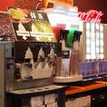 ドリンクバーに毎月変わるフレーバーのソフトクリームをご用意しております♪