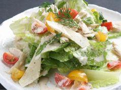 料理メニュー写真有機野菜のシーザースサラダ