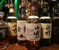 山崎をはじめ豊富なウイスキーも完備