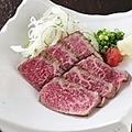 料理メニュー写真希少部位のシンシンを使った『和牛たたき』