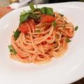 料理メニュー写真静岡県産アメーラトマトの完熟スパゲティ ポモドーロ