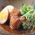 料理メニュー写真黒豚の角煮 ~煮玉子を添えて~