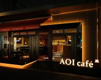 【AOI cafe店舗外観・夜】