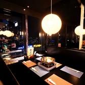 大阪の夜景が見渡せるテーブル席♪宴会や打ち上げ、女子会にもおすすめ◎