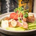 料理メニュー写真自慢の博多名物 鶏の明太子鍋をご堪能♪