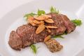 料理メニュー写真牛ロースガーリックバター鉄板焼