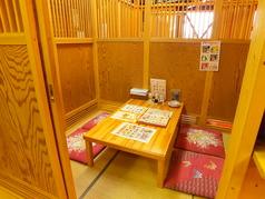 ◆お座敷付きの個室完備♪ドア付きでプライベートな空間!ゆったり足を崩して、お食事をすれば自然と会話も弾む♪女子会やデートに人気です◎