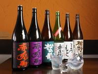 焼酎・日本酒の種類が豊富