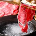 料理メニュー写真黒毛和牛150gお試しコース(一般的な一人前の食べる量)しゃぶしゃぶ、すき焼きが選べます
