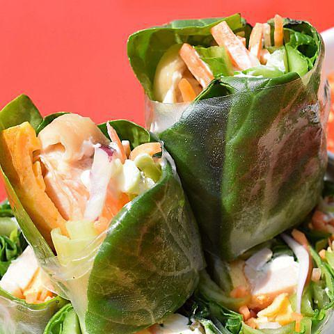 とれたて小松菜の生春巻き リピート率88%