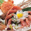 料理メニュー写真■活毛蟹刺身