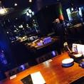 8名様と11名様のテーブルが二つ入っているスペースです。一体感がありますので19名様までのパーティがおススメです。週末は要ご予約。