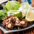 料理メニュー写真鶏肝レアステーキ