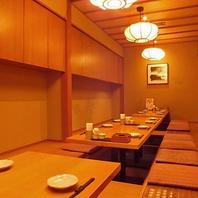 掘りごたつ個室は最大24名様まで!神田での大人数宴会に