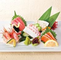 新鮮魚介の刺身はお造り・単品をご用意しています。