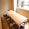 【個室】プライベートな時間をお過ごしいただけるテーブル個室がございます!8名様までご着席いただけるため、気の置けないご友人とのお食事におすすめのお席です!