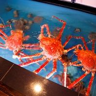 生簀には毛蟹・高足蟹