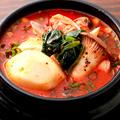 料理メニュー写真ミネストローネ風野菜スンドゥブ