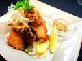 料理メニュー写真鶏の唐揚げ (塩味・おろしポン酢)