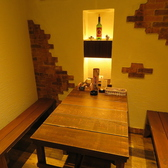 4名様個室は最大3卓ご用意。接待やデート、小規模宴会など様々ご利用頂けます。