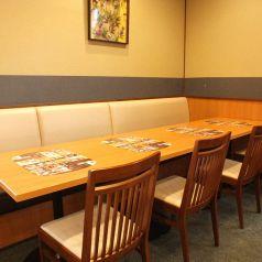 テーブル席でご宴会も♪※写真はイメージです。店舗ごとに座敷の有無、個室の有無、レイアウトが違います。ご利用人数によってご案内の席、部屋が変わることがございますので詳しくは事前に店舗まで問い合わせてください。
