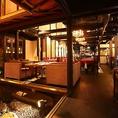 中奥にある坪庭や蔵を改造したなど落ち着く和の雰囲気のある空間!100名様までご利用頂ける店内、京町家でウエディングや各種ご宴会にもおすすめ