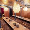 大人数でも対応可!接照明が優しく照らし出す扉付き個室♪2名様~個室席をご用意致します。ご接待やデートなどにも最適♪和個室タイプです。