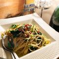 料理メニュー写真しらすと青菜のペペロンチーノ