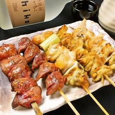 鶏串盛合せ (5本)