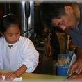 厨房を貸しきって魚卸し教室