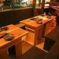 1階のテーブル席は女性同士での忘年会やお誕生日会等におすすめです。