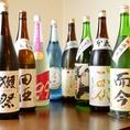 こだわりの日本酒多種取り揃えております♪