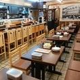 にぎやかな店内は、テーブル席、カウンター席に加えて、2階に座敷 40席があります◎総席数は84席!新世界に来たら、からさきで串カツ飲み会はいかがですか?11:00~営業しているのでお昼の飲み会も可能です!貸切も50名様~84名様まで可能です♪少人数~大人数まで、宴会でのご利用お待ちしています!!