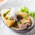 料理メニュー写真米澤牛黒毛和牛ロース茄子の舟形