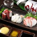 料理メニュー写真蛸の食べ比べ3種盛