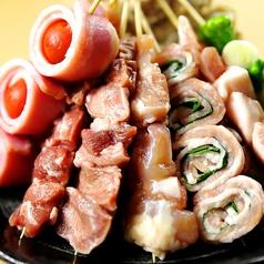 炭火串焼【単品メニュー】当店1番人気のタンやこだわりの豚しそ巻きなど!