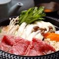 料理メニュー写真黒毛和牛<しゃぶしゃぶ or すき焼き or トマトすき焼き>