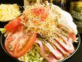 料理メニュー写真【洋風もんじゃ】マリオ(バジル風味)