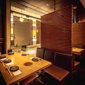プライベート感覚のテーブル席はデートに◎周りを気にせずにゆっくりとお食事をご堪能いただけます。※ランチタイムのみ全面禁煙。詳しくはお店にお問い合わせください。