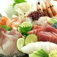 大将厳選の旬魚盛り合わせ(時価)は食べたらやみつきに!