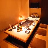 大切な食事シーンにはこちらが◎完全個室で仲間同士でワイワイ愉しめます。