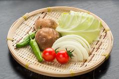 料理メニュー写真野菜焼き盛り合わせ