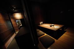 6名様の掘りごたつ個室です。同タイプのお部屋が6部屋ございます。