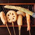 人気の串揚げ専門姉妹店・串あん東京蒲田店のメニューが108食堂でも楽しめる