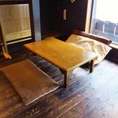 足を伸ばしてゆっくりと寛げる2階お座敷席。