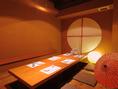 掘りごたつの完全個室。接待にもおすすめのお部屋