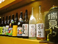 和食と相性の良い、焼酎、日本酒をそろえています
