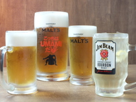 ビールやハイボールで乾杯♪