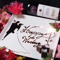 誕生日・記念日にデザートプレート+シャンパンあげる♪