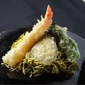 料理メニュー写真天ぷら瓦そば定食